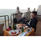 James Franco had an alfresco dinner in Venice. Source: Instagram user jamesfrancotv