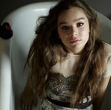 Hailee Steinfeld got into the tub with a lace dress and rubber ducky. Source: Instagram user haileesteinfeld