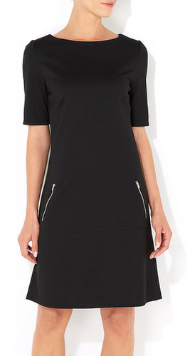 Black Zip Waist Dress