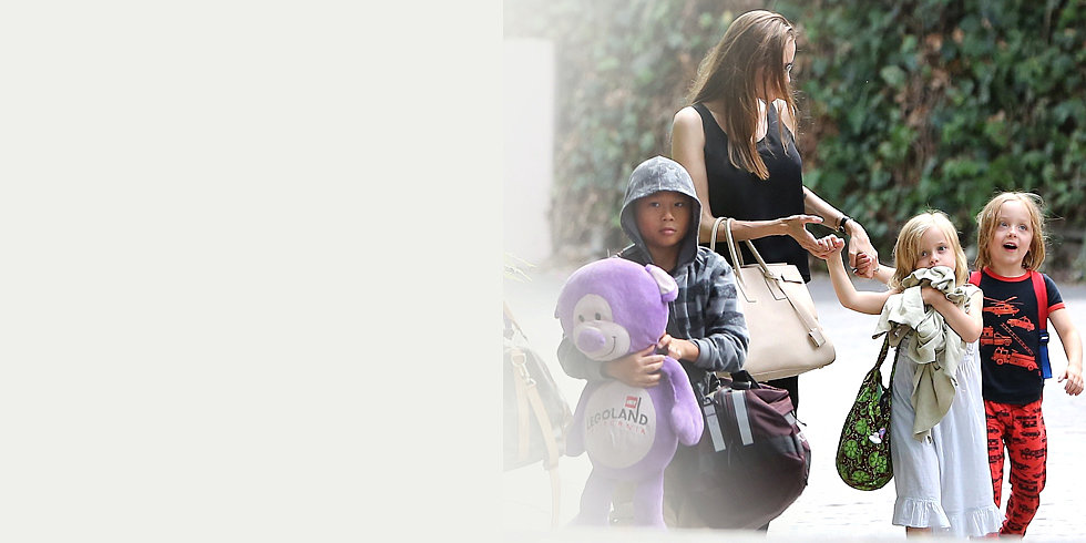 Angelina Jolie Spends Labor Day With Her Little Ones