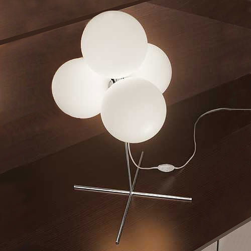 The illuminated balls on this Tybo 30 Table Lamp ($630) remind us of tiny balloons.