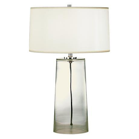 Sometimes, less really is more — this Clear Glass Lamp ($227) takes up less visual space than the average desk lamp.