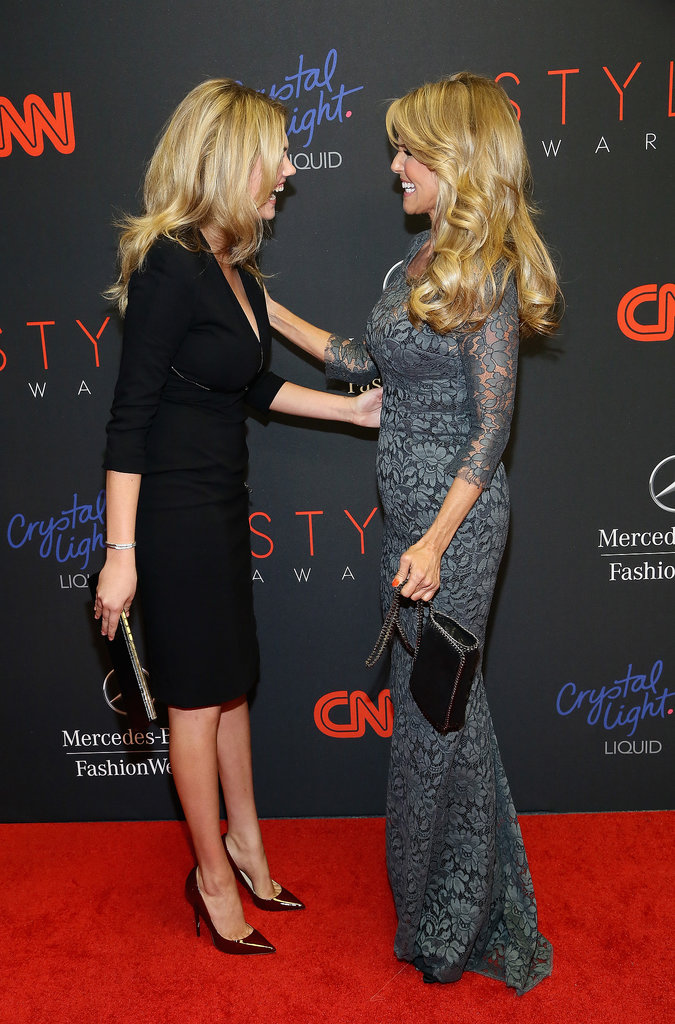 Christie Brinkley and Kate Upton chatted at the Style Awards.