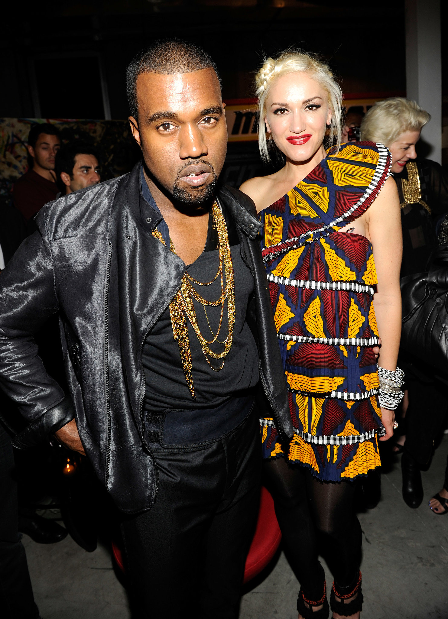 Gwen Stefani and Kanye West linked up at her line L.A.M.B's afterparty during NYFW in September 2010.