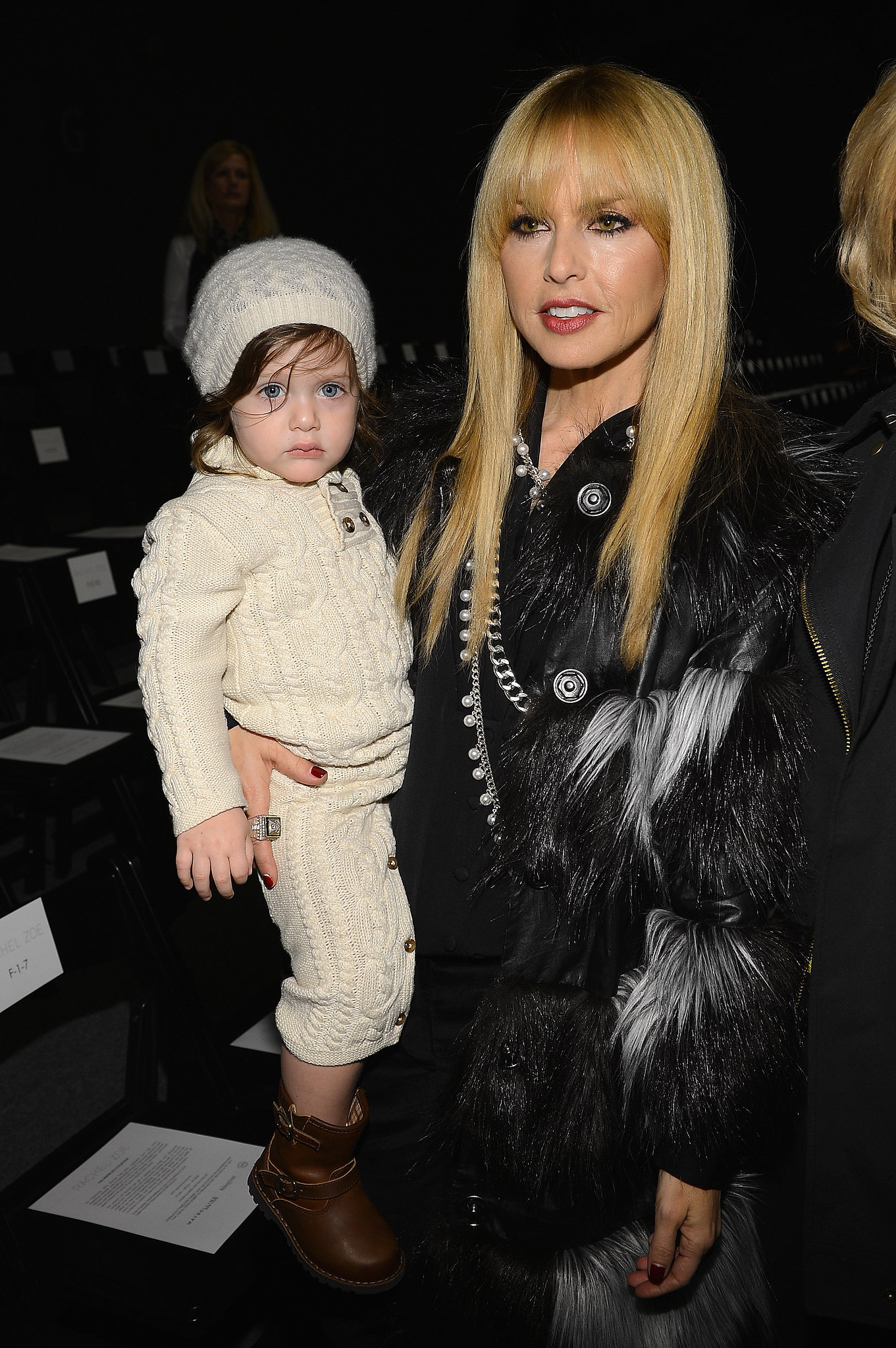 Rachel Zoe brought her son Skyler along to her runway show in February 2013.