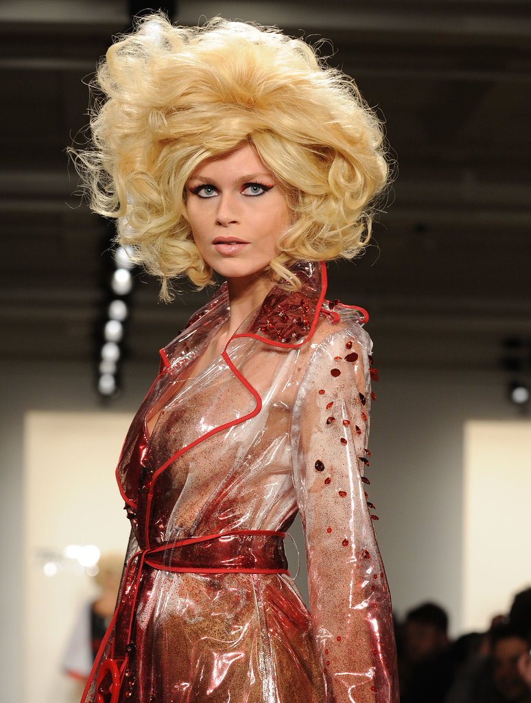 Big and blonde was, unsurprisingly, the order of the day at The Blonds' Autumn 2013 show, with models sporting an array of big wigs, including this dramatic take on Marilyn Monroe's famous blonde bob.