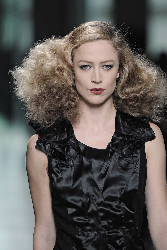 On the Bottega Veneta Fall 2013 runway, models sported fluffed-up curls with a 1940s feel.