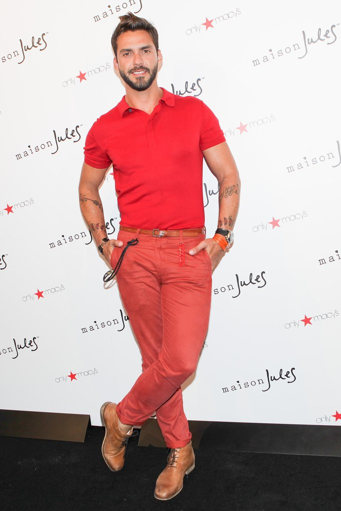 Lorenzo Martone brightened up the room in red while attending the Maison Jules New York presentation.