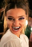 Miranda Kerr wore fancy silver teeth when she walked in Baby Phat's Spring/Summer 2007 fashion show during New York Fashion Week.
