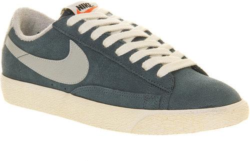 Nike Blazer Low Vintage Squadron Blue Grey - Unisex Sports