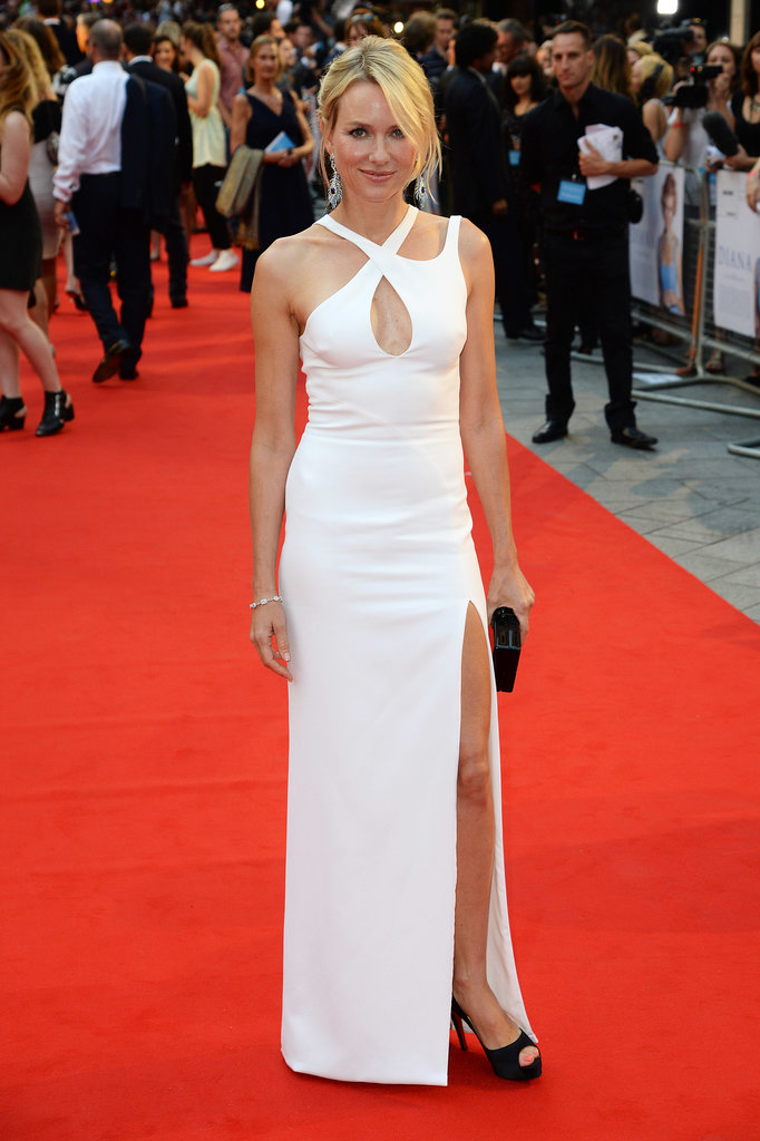 Naomi Watts arrived on the red carpet for the Diana premiere in London.