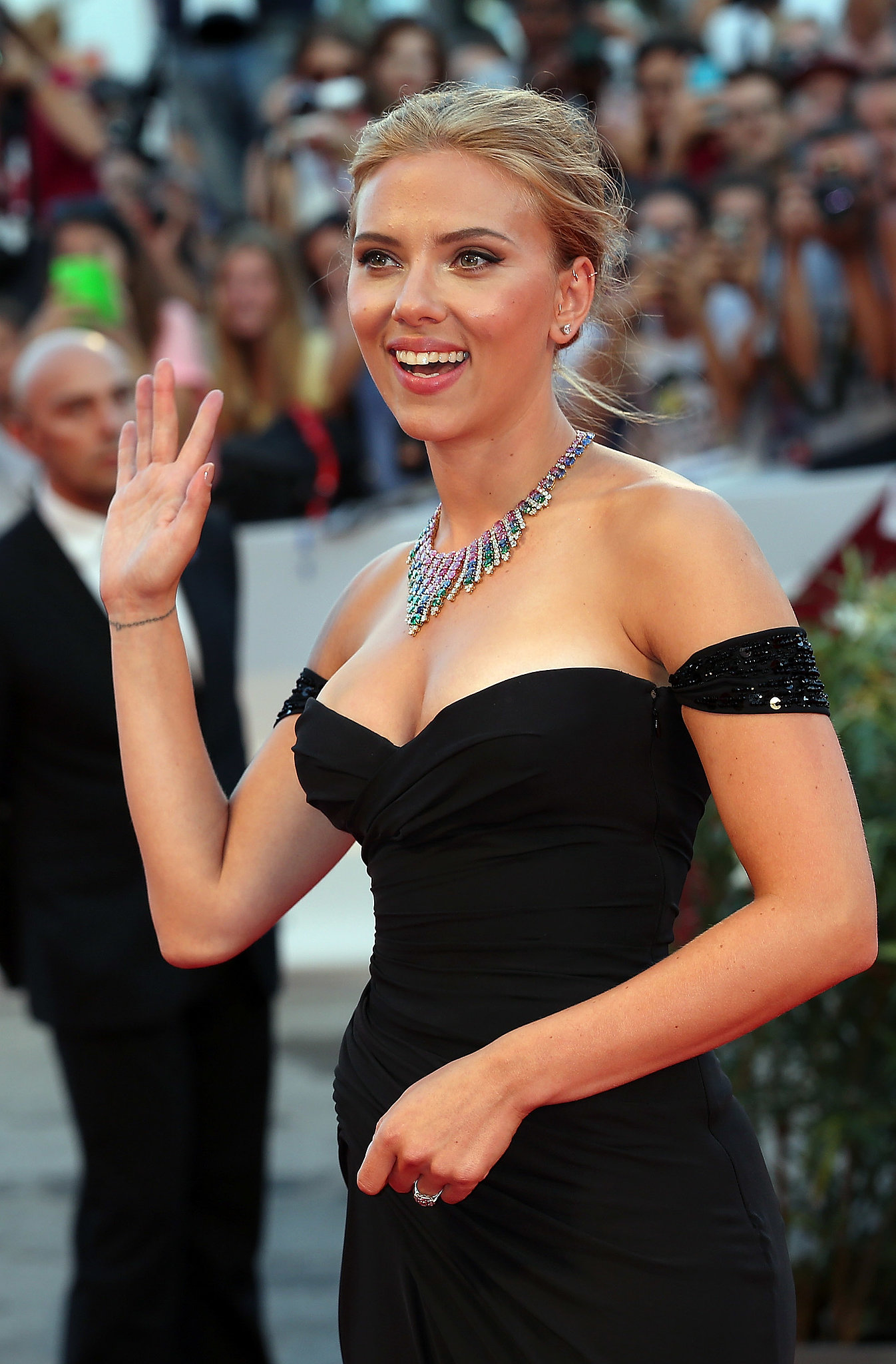 Scarlett Johansson attended the premiere of Under the Skin