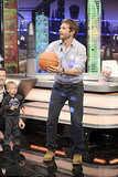 Bradley Cooper played basketball on the set of El Hormiguero in Madrid.