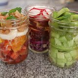 Ombre Salads in a Jar