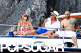 Beyoncé and Jay Z relaxed on a yacht with friends.