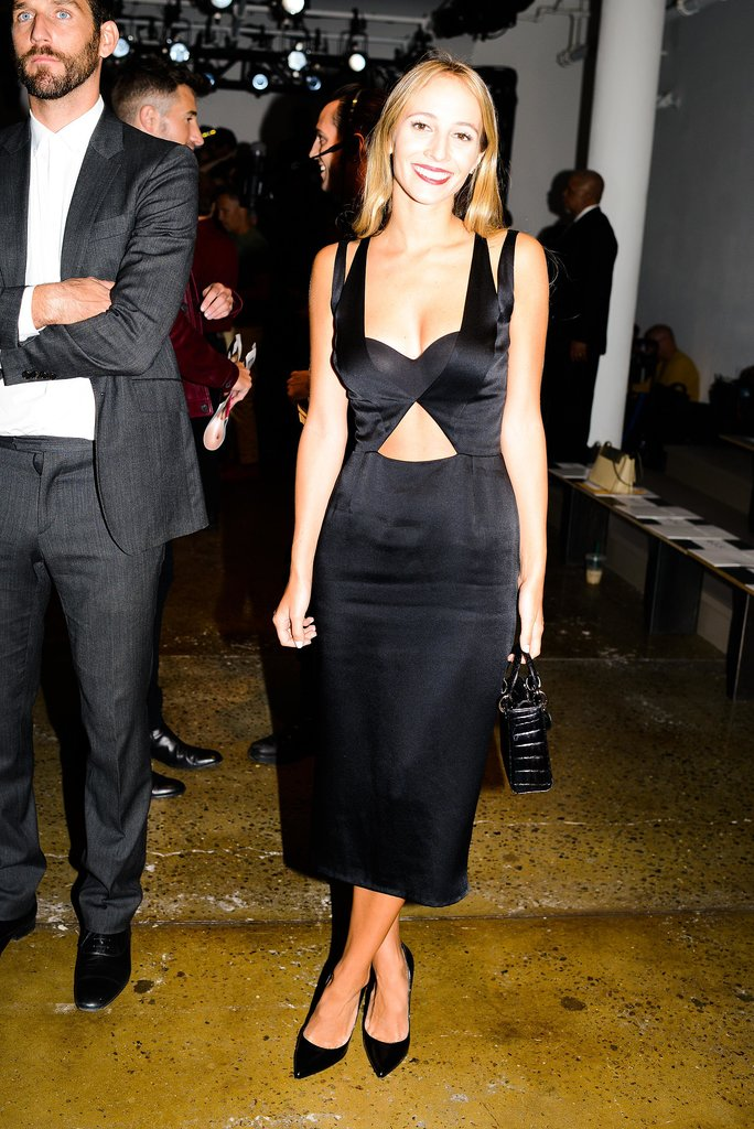 At the Cushnie et Ochs Spring show, Harley Viera Newton vamped it up in the label's cutout LBD.