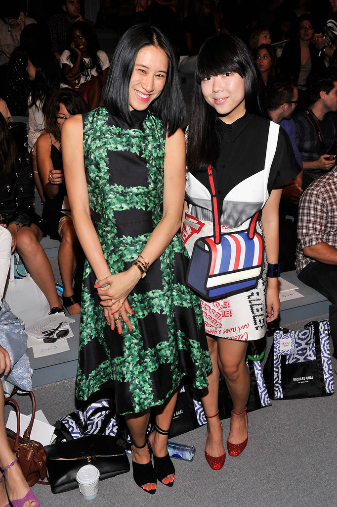 Eva Chen joined Susie Bubble in the front row of Richard Chai.