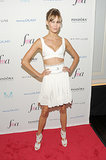 Karlie Kloss bared her enviable midriff while attending The Daily Front Row's Media Awards.