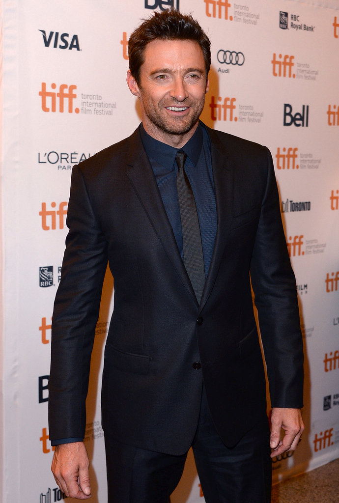 Hugh Jackman looked dapper at the drama's debut.