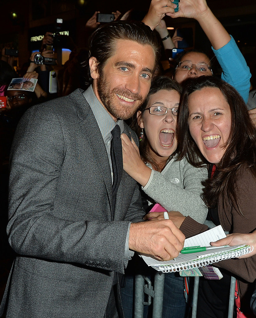 Jake Gyllenhaal signed an autograph.