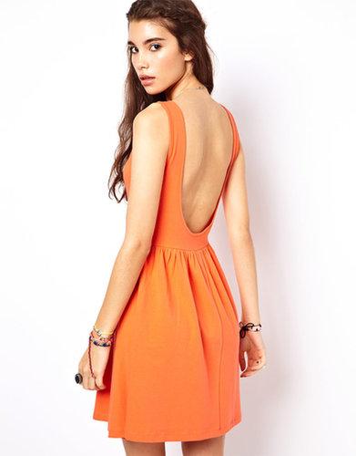 ASOS Mini Sundress Dress With Scoop Back.