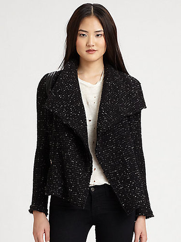 IRO Lierane Leather-Trim Tweed Jacket