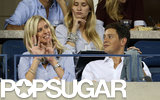 Nicky Hilton gave a wave from her seat with her boyfriend, James Rothschild.