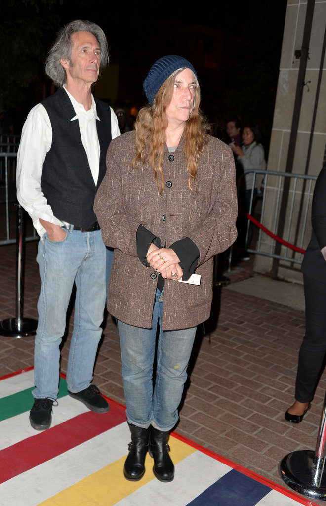 Patti Smith and Lenny Kaye went casual at the Only Lovers Left Alive premiere.