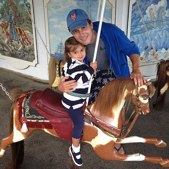 Arabella Kushner got a sweet hug from her dad on a merry-go-round over Labor Day weekend. Source: Instagram user ivankatrump