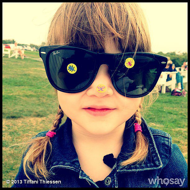 Harper Smith took in the last days of Summer with some customized sunglasses. Source: Instagram user tathiessen