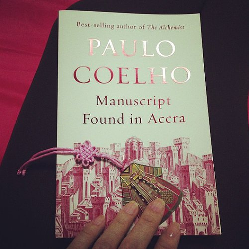 Jangbarts shared a pic of Paulo Coelho's Manuscript Found in Accra.