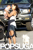 Jenna Dewan took Everly to the park in Vancouver.