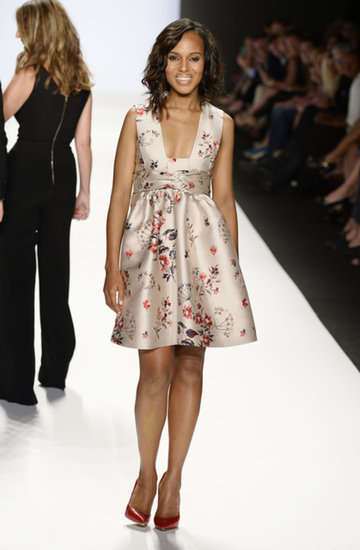 Kerry Washington hit the catwalk at New York Fashion Week.