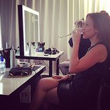 A little primping (and champers) before the 3.1 Phillip Lim For Target bash!