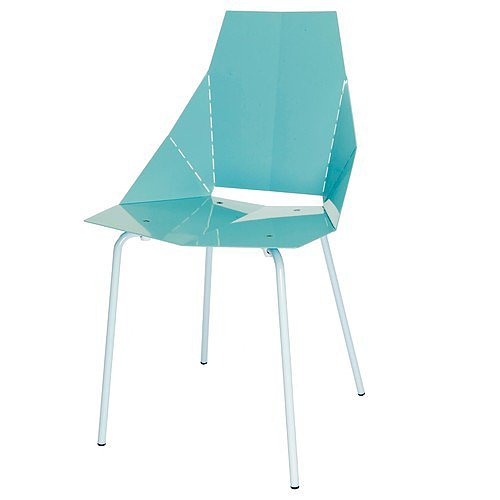 You'll feel like a kid again when you fold along the laser-cut lines of this fun aqua chair ($139-$149) — except the end result is way better than any paper airplane.