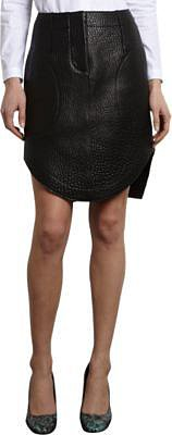 Carven Textured Leather Skirt