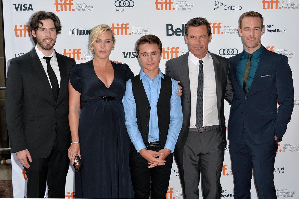 At the premiere of Labor Day at the Toronto International Film Festival, Kate Winslet posed with director Jason Reitman and her costars Gattlin Griffith, Josh Brolin, and James Van Der Beek.
