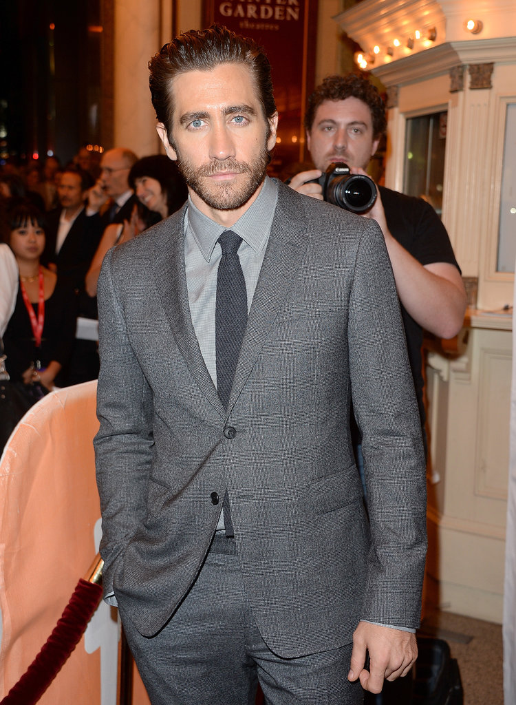 Jake looked handsome in his grey suit.
