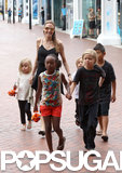 Angelina Jolie and her kids took a trip to the Sea Life Sydney Aquarium in Australia.