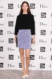 At Saks's Dior event, Alana Zimmer sparkled in a purple pencil skirt.