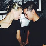 Karolina Kurkova was deep in thought with Bryanboy. Source: Instagram user karolinakurkova
