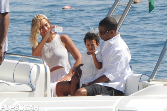 Beyoncé took a photo of Blue and Jay Z.