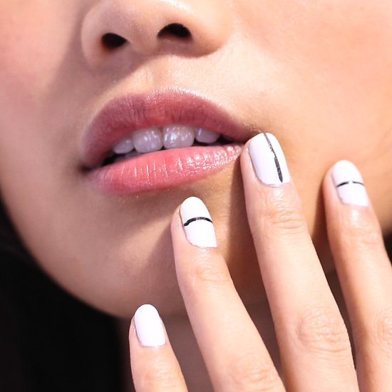 Striped Nail Art at 2014 Spring New York Fashion Week