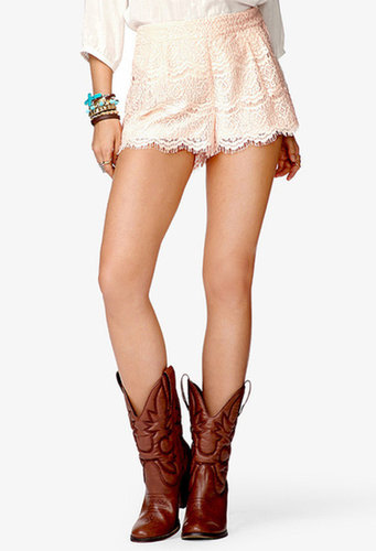 FOREVER 21 Prairie Doll Lace Shorts