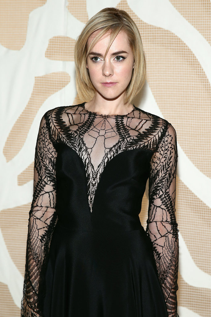 Jena Malone at Monique Lhuillier Spring 2014.