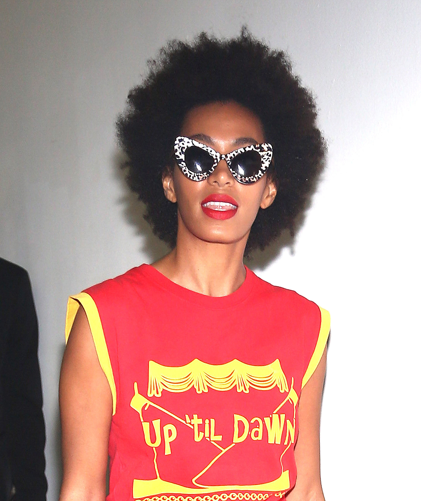 Solange Knowles at Alexander Wang Spring 2014.