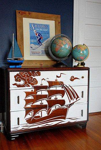 Reverse Stencil Furniture
