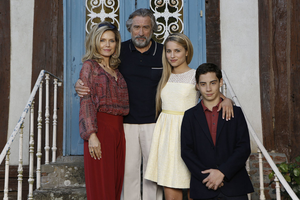 Michelle Pfeiffer, Robert De Niro, Dianna Agron, and John D'Leo in The Family. Source: EuropaCorp