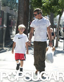 Gavin Rossdale took his son Kingston to the farmers market in LA.