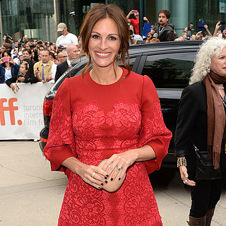 Julia Roberts in Red D&G Dress at Toronto Film Fest 2013